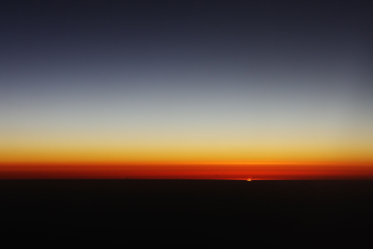 sunrise from airplane #2