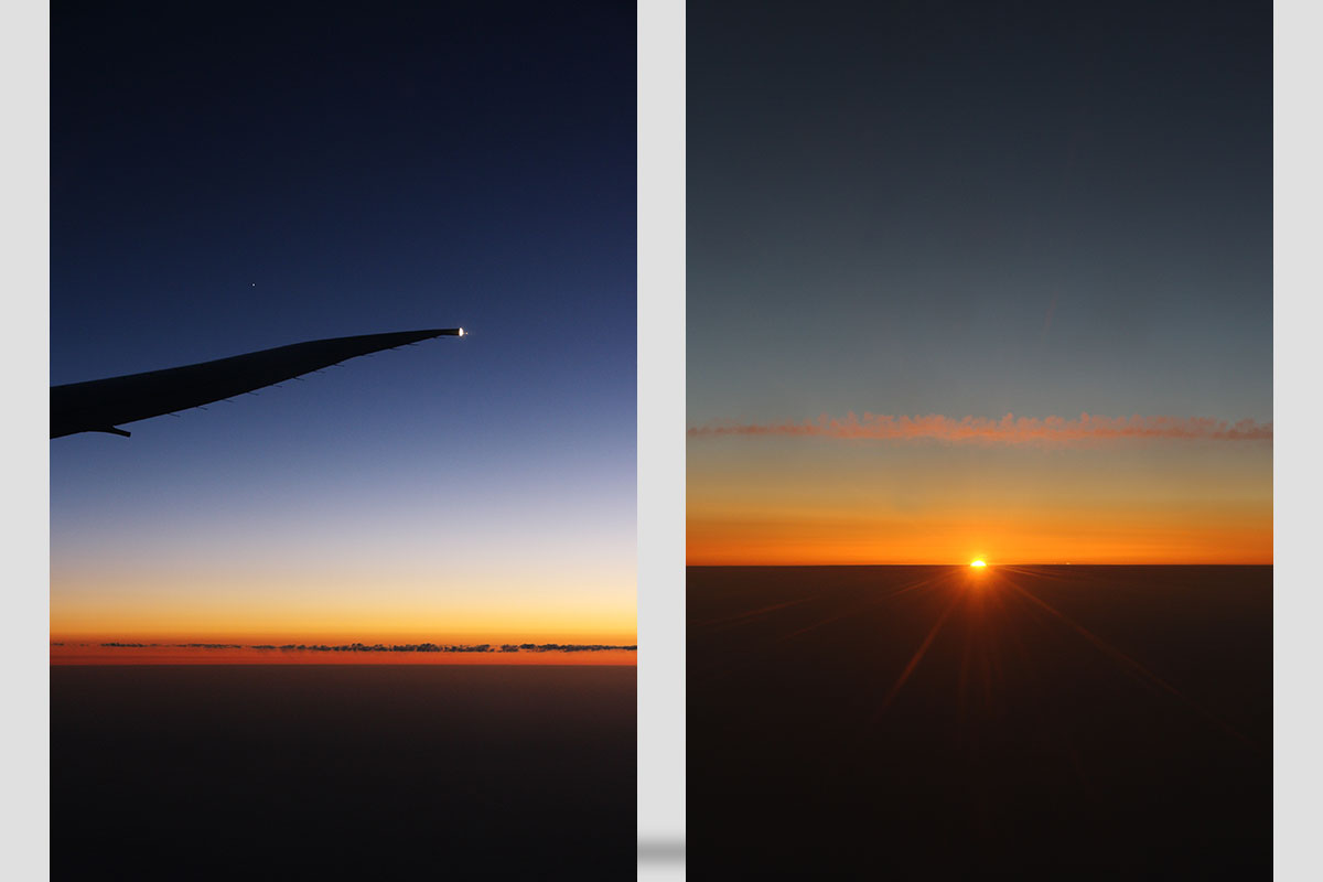 sunrise from airplane #3